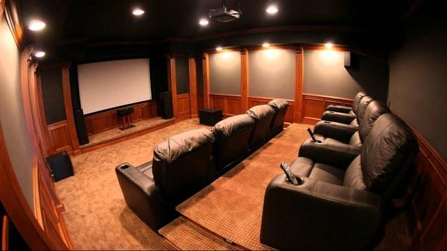 salle de home cinéma acoustique et design