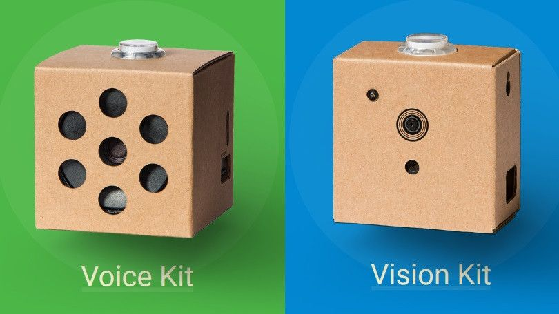 Les kits Google Artificial Intelligence Yourself (AIY) (Vision et Voix)